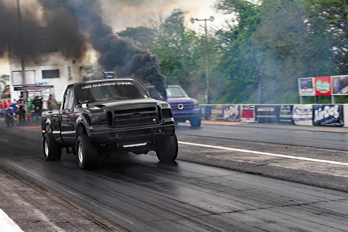 KC Turbo's 6.0L Drag Truck at the Diesel World Drags presented by Nitto Tire
